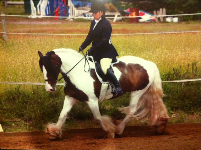 Rosie and I doing dressage