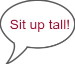 Riding jargon and arena language - sit up tall