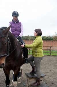 Riding lesson with Sally Ede
